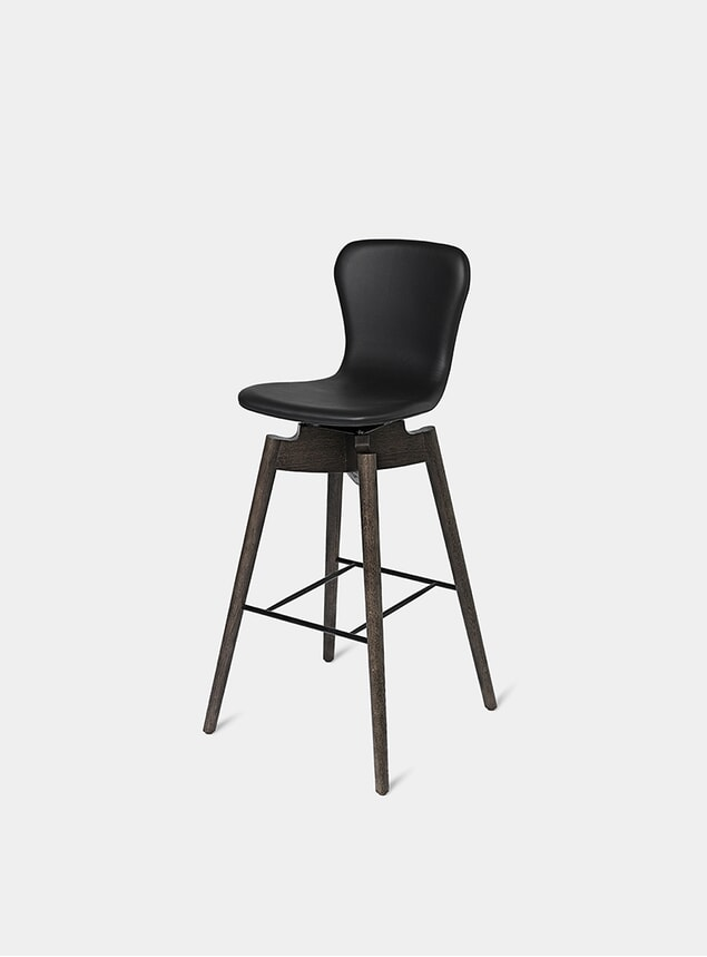 Ultra Black Shell Bar Stool