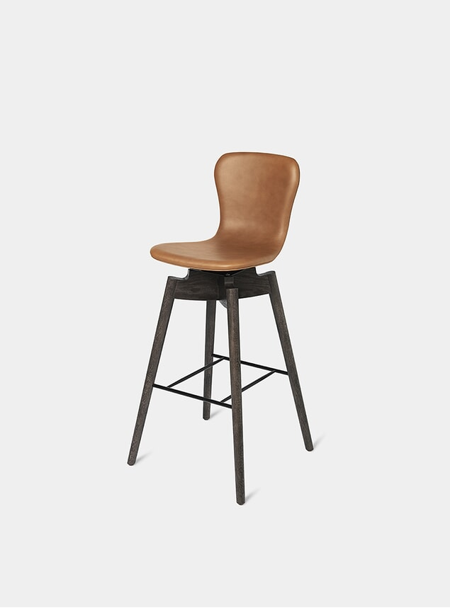 Ultra Brandy Shell Bar Stool