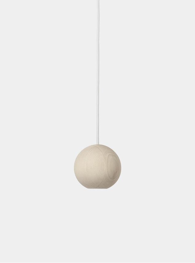 Linden Wood Liuku Base Ball Pendant Lamp