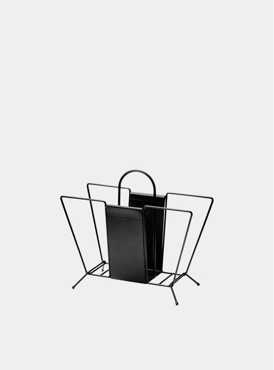 Black Suitcase Magazine Holder