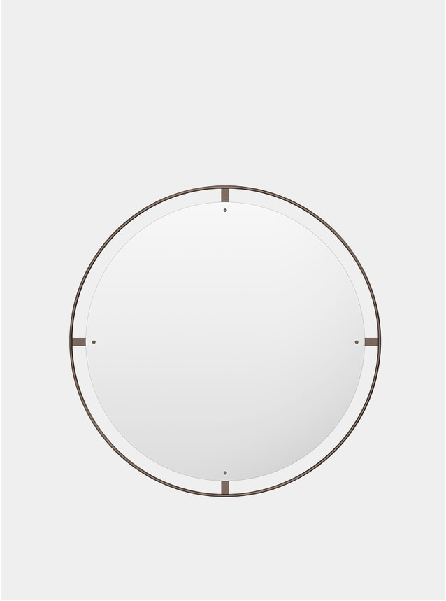 Bronzed Brass Ø110 Nimbus Mirror
