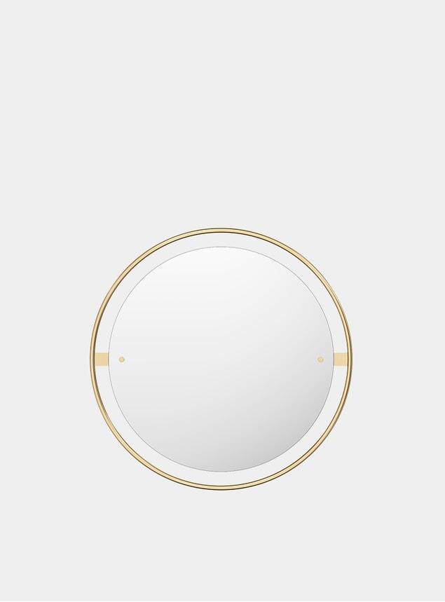 Polished Brass Ø60 Nimbus Mirror