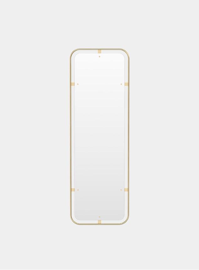 Polished Brass Nimbus Rectangular Mirror