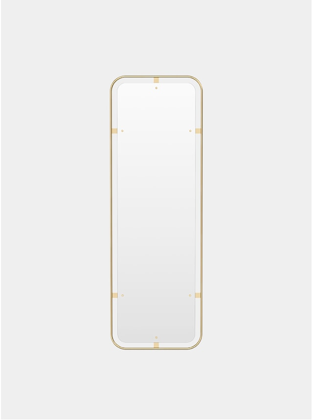 Polished Brass Nimbus Rectangular Mirror