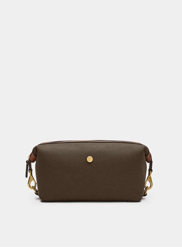 Army / Cuoio M/S Wash Bag