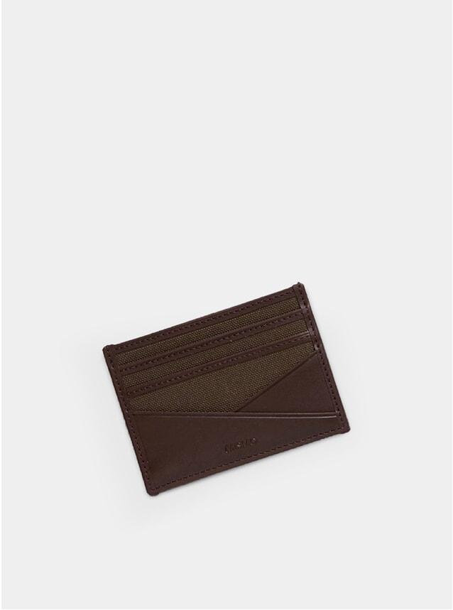 Army / Dark Brown M/S Card Holder