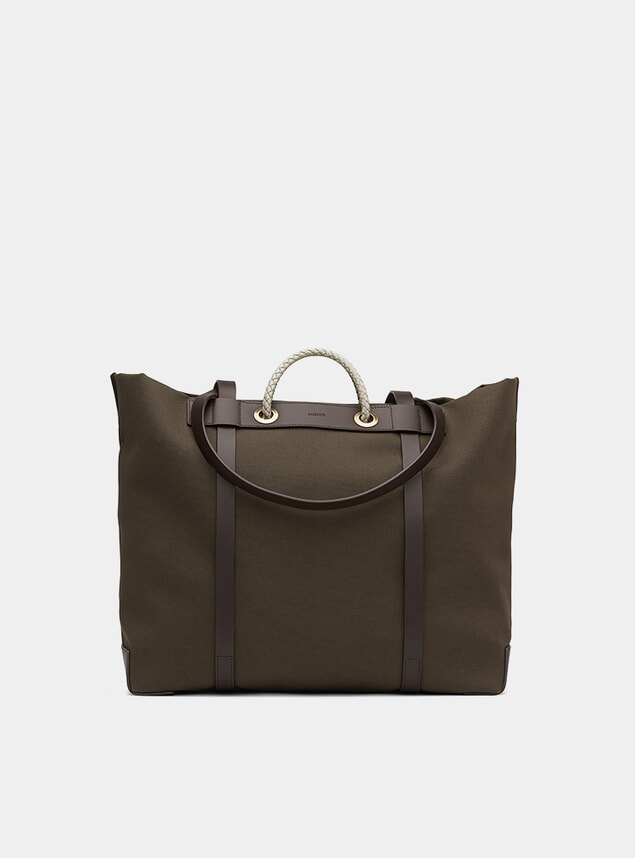 Army / Dark Brown M/S Seaside Bag