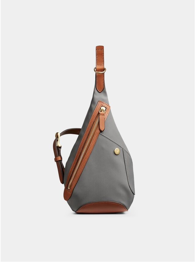 Concrete / Cuoio M/S Drop Bag