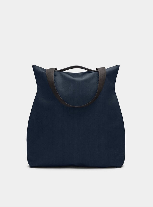 Deep Blue / Black M/S Flair Tote Bag