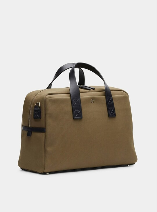 Khaki / Black M/S Aviator Duffle Bag