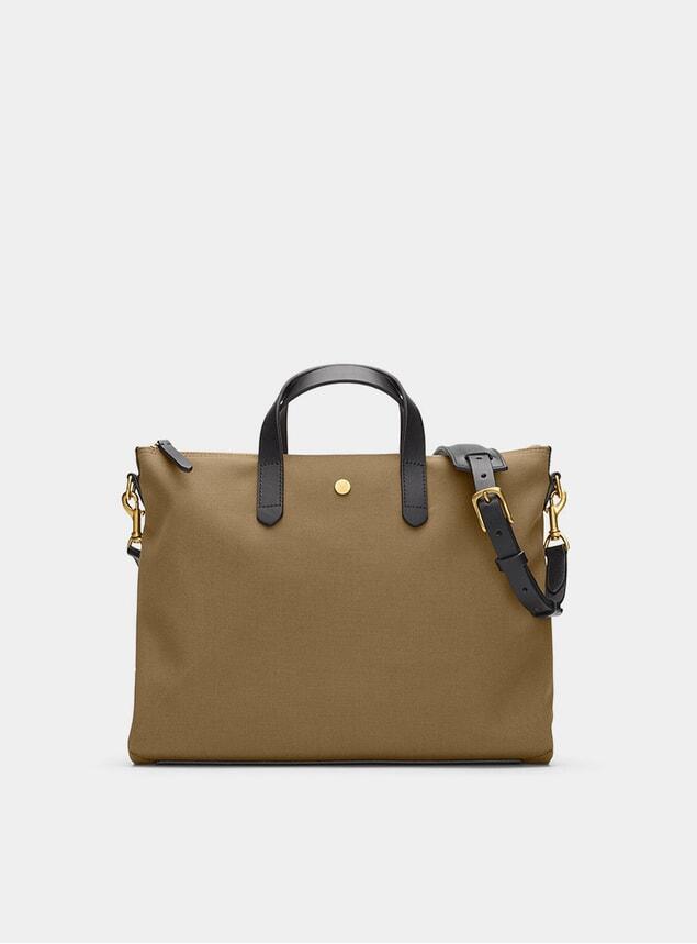 Khaki / Black M/S Brief Bag
