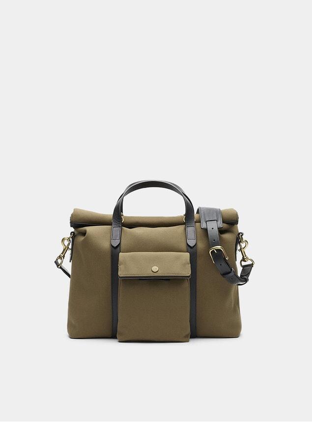 Khaki / Black M/S Soft Work Bag