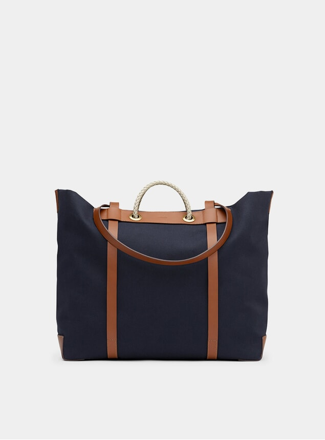 Midnight Blue / Cuoio M/S Seaside Bag