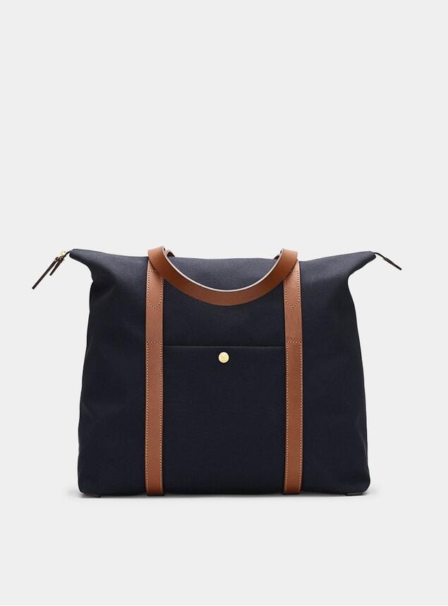 Midnight Blue / Cuoio M/S Shuttle Bag
