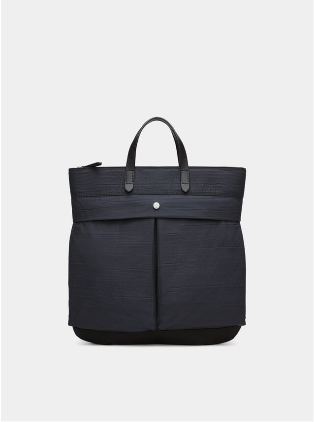 Moonlight Blue / Black Cotton Helmet Bag