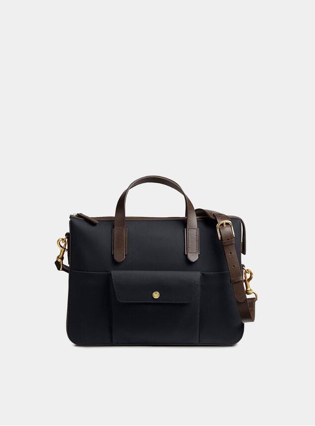 Navy / Dark Brown M/S Briefcase