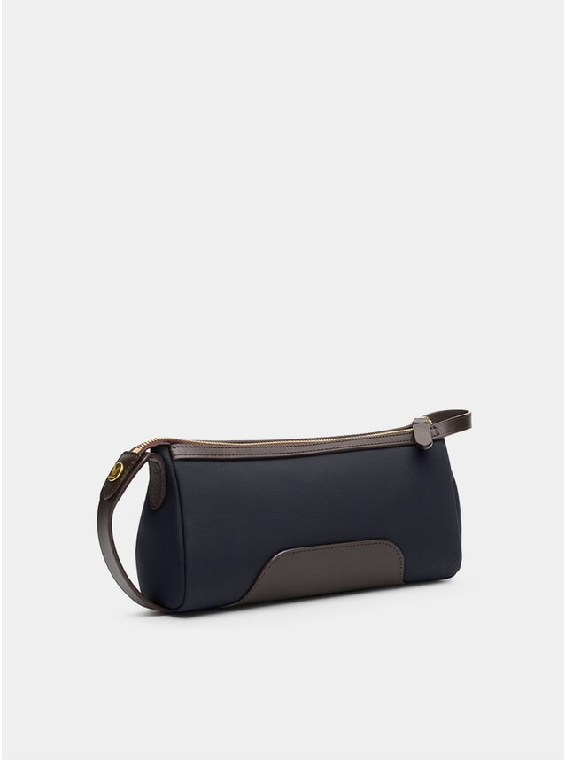 Navy / Dark Brown M/S Prime Wash Bag