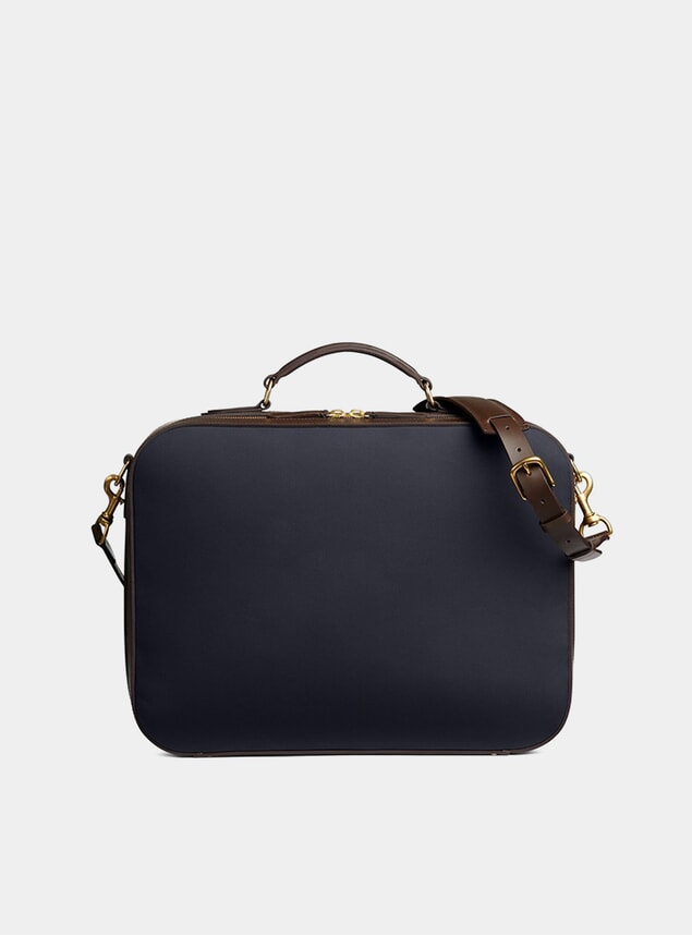 Navy / Dark Brown M/S Suitcase