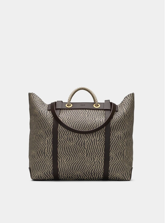 Sand Waves / Dark Brown M/S Seaside Bag