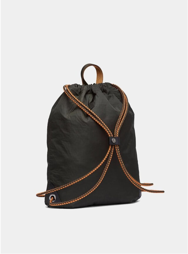 Beluga / Black M/S Drawstring Bag