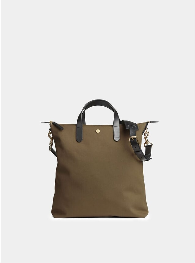 Khaki / Black M/S Shopper Tote