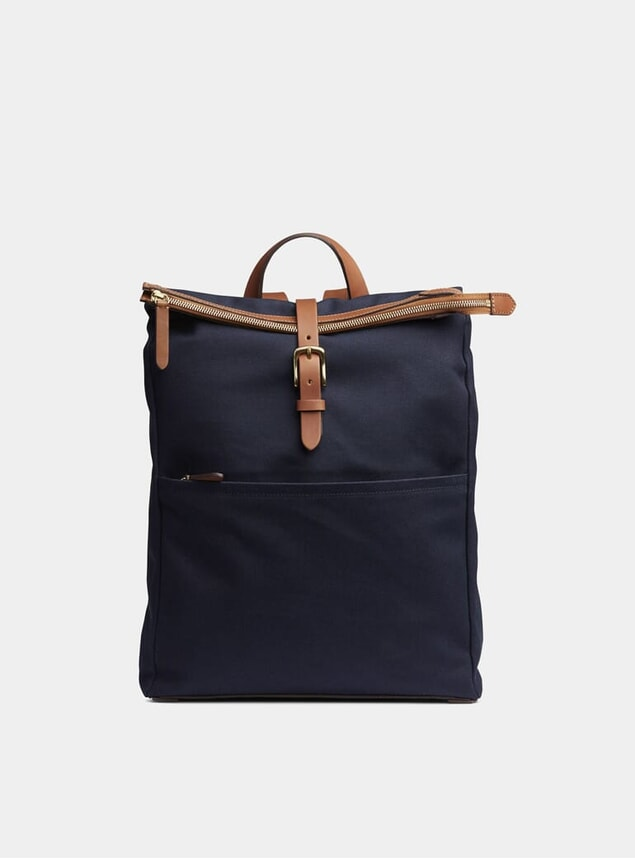 Midnight Blue / Cuoio M/S Express Backpack