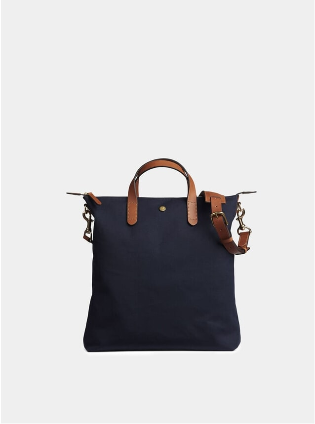 Midnight Blue / Cuoio M/S Shopper Tote