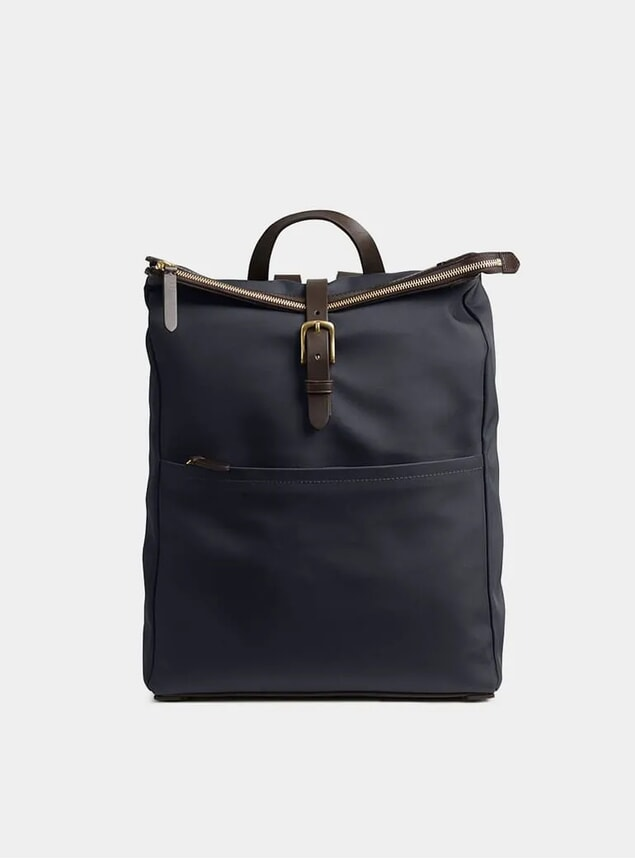 Navy / Dark Brown M/S Express Backpack