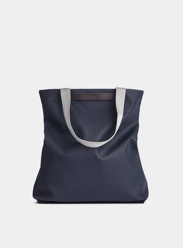 Navy / Dark Brown Flair Tote