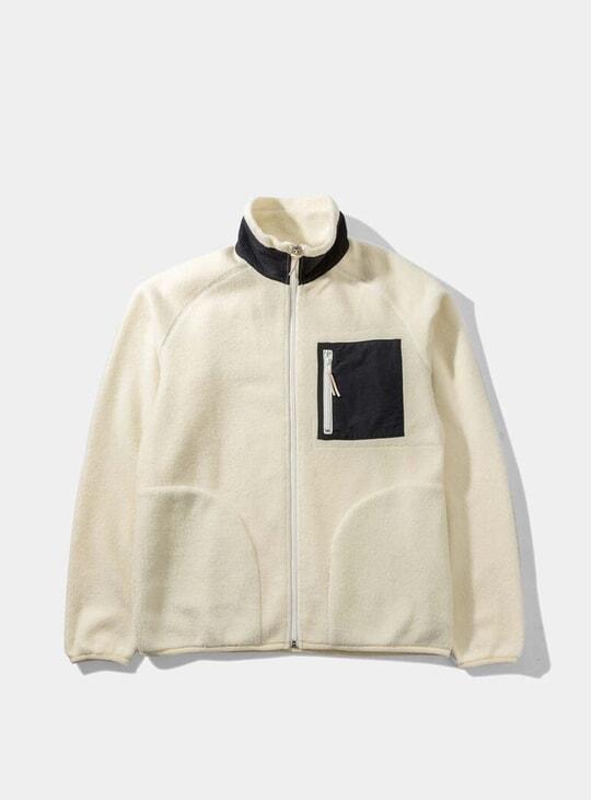 Beige Moleskin Fleece Jacket