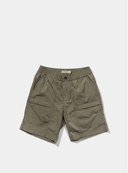 Beige Tech Shorts
