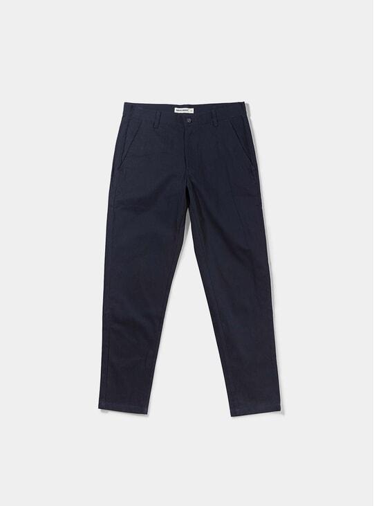 Dark Navy Herringbone Bassa Pants