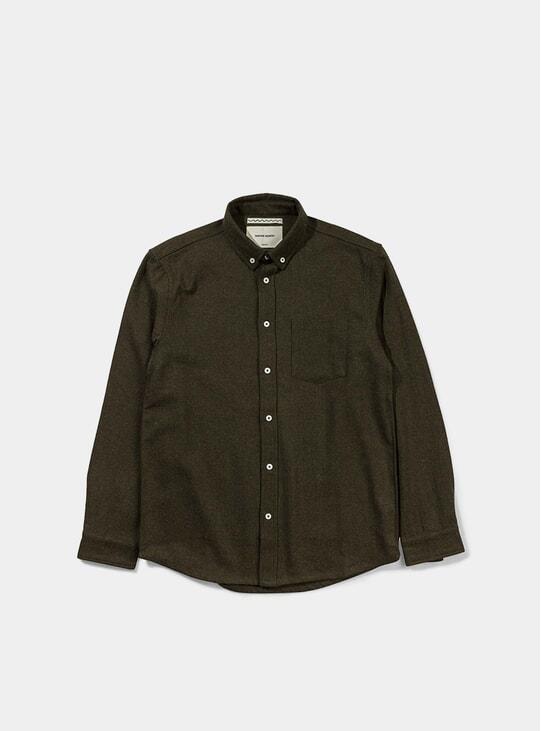 Moss Melange Wool Shirt