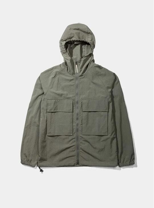 Olive Hooded Windbreaker Jacket