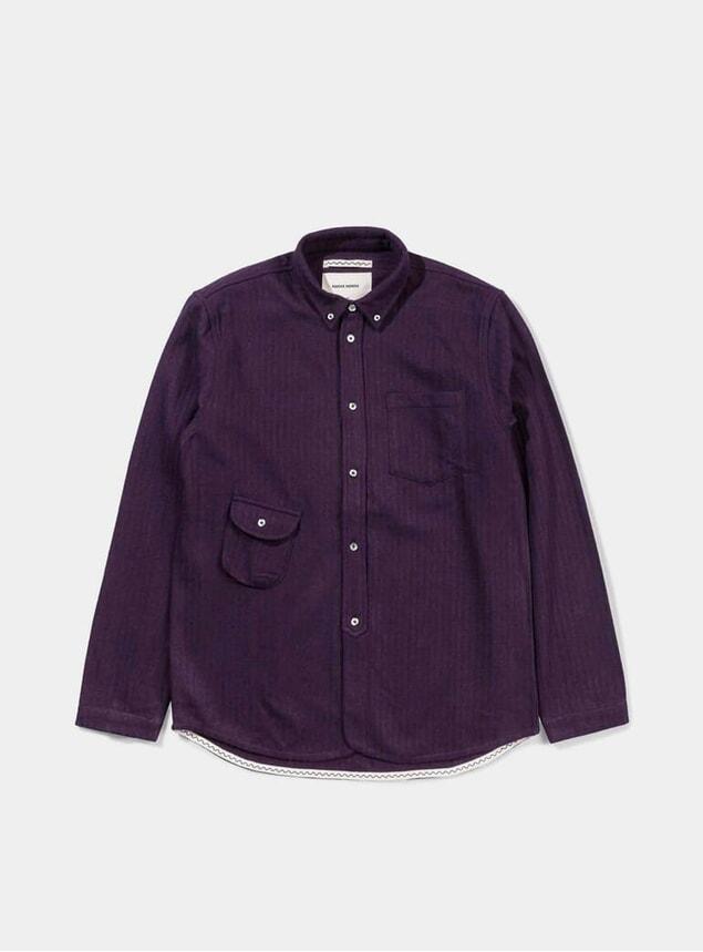 Purple Wool Workers Shirt