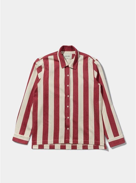 Red Owen Striped Shirt