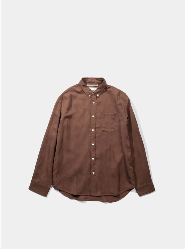 Rust Japanese Linen Tencel Shirt