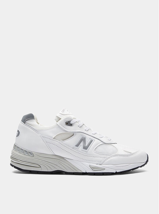 White / Silver 991 Sneakers