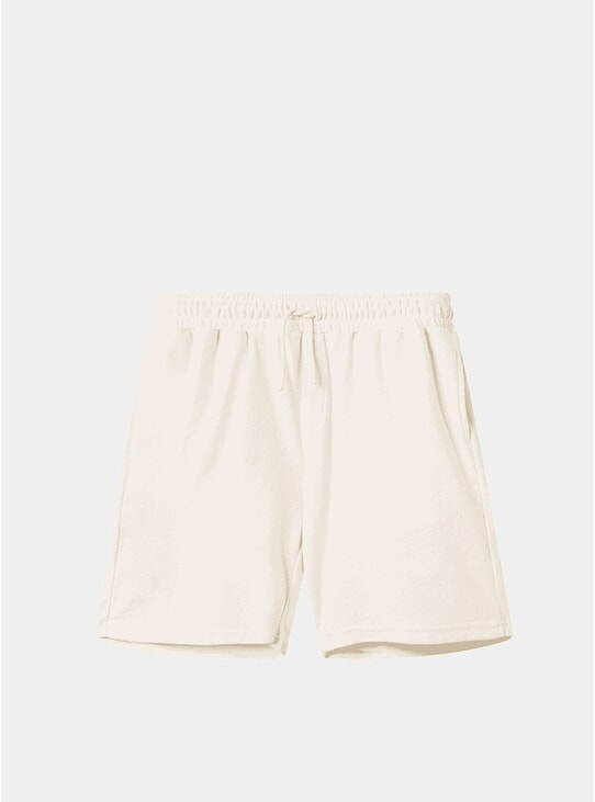 Cream Cannoli Terry Shorts
