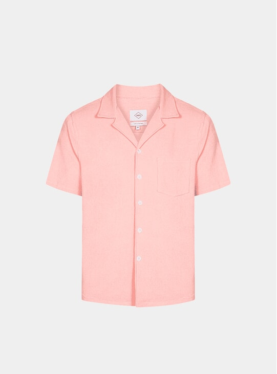 Silver Pink Bowling Terry Shirt