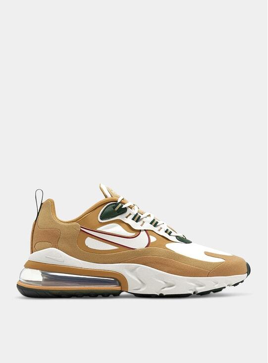 Gold Air Max 270 React Sneakers