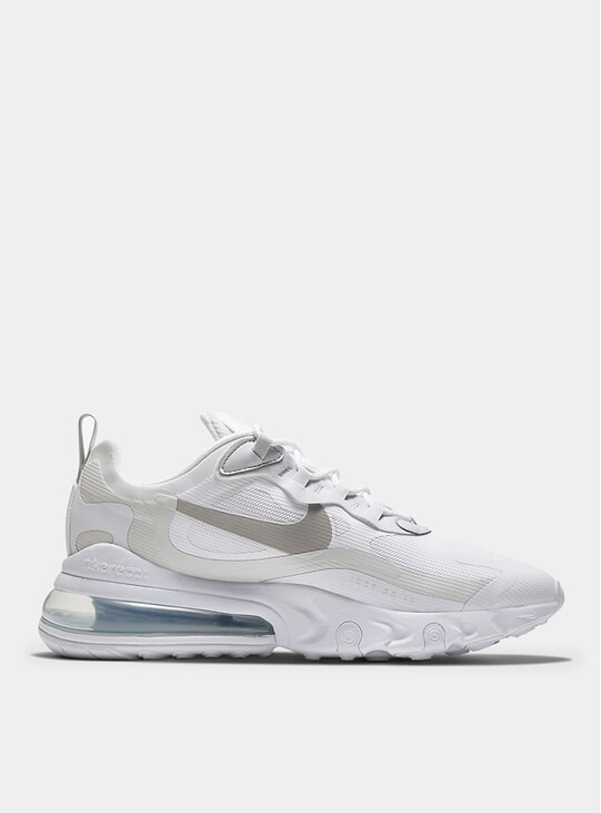 White / Pure Platinum Air Max 270 React Sneakers