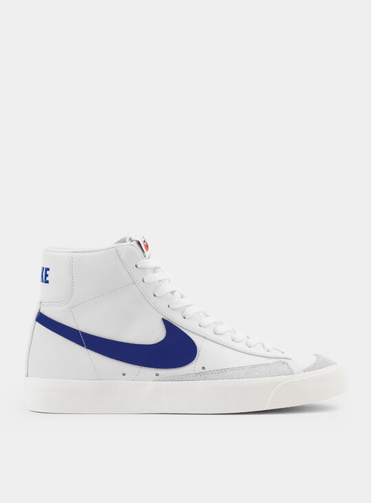 White / Racer Blue Blazer Mid '77 Sneakers