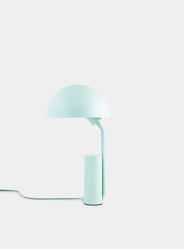 Misty Blue Cap Table Lamp