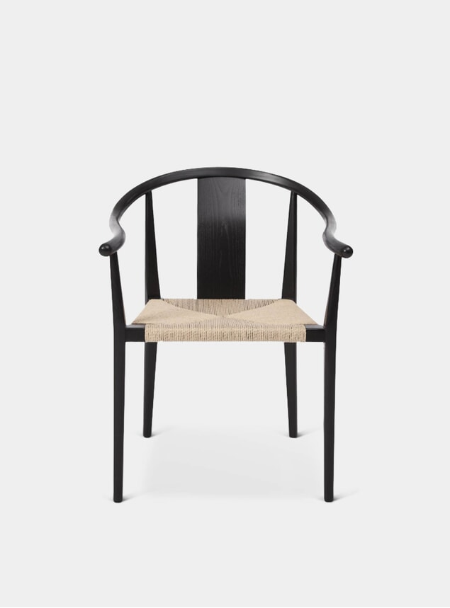 Black Paper Cord / Ash Shanghai Dining Chair