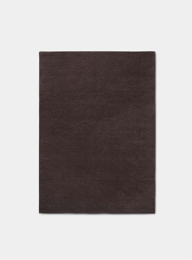 Dark Brown Medium Rug