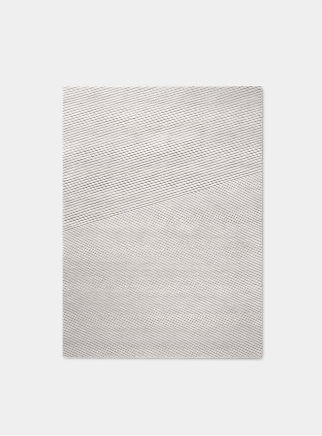 Light Grey Row Medium Rug