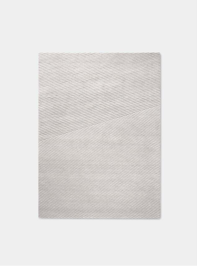 Light Grey Large Row Rug