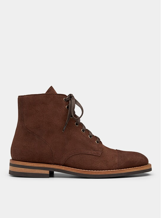 Brown Roughout SB 1 Boots