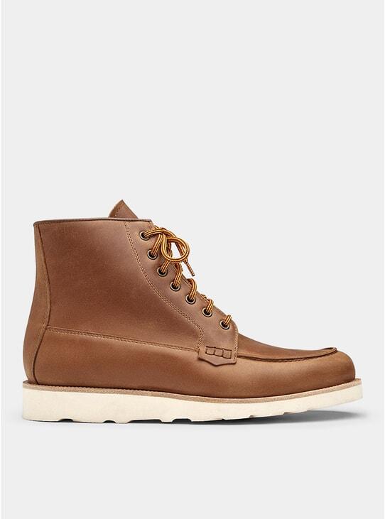 Natural Brown Mock Boots